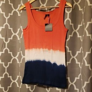 Cynthia Rowley Red white and blue tank top